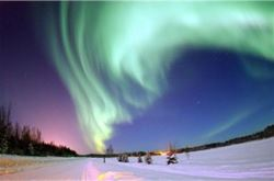 Northern Lights appear across the sky