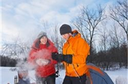 Winter camping conditions may be challenging as snow returns