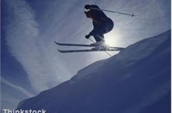 Skiing features in mountain festival