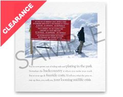 Red Sign Greeting Card