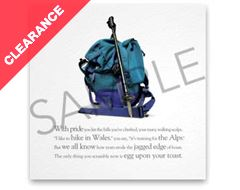Rucksack Greeting Card