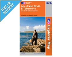 Explorer 374 Isle of Mull North Map Book
