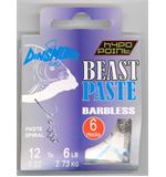 Beast Paste Barbless Hooks size 12