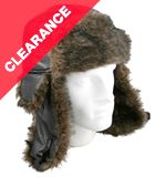 Mock Leather Trapper Hat