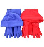 Childrens Fleece Beanie Scarf and Glove Set