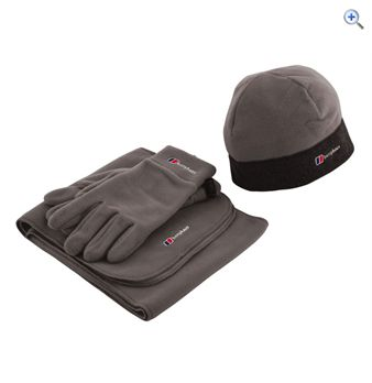 Berghaus Men&39s Spectrum Hat Scarf and Gloves Pack  Size LXL  Colour Grey