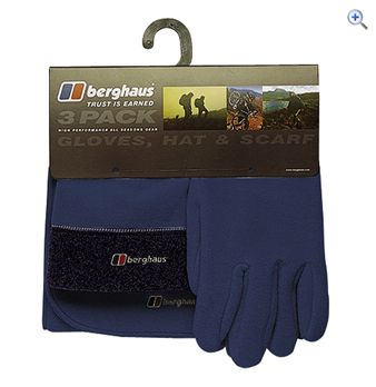 Berghaus Men&39s Spectrum Hat Scarf and Gloves Pack  Size LXL  Colour Eclipse Blue