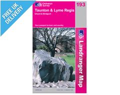 Landranger 193 Taunton and Lyme Regis Map Book