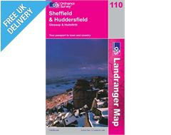 Landranger 110 Sheffield and Huddersfield Map Book