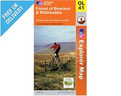 Explorer Active OL41 The Forest of Bowland and Ribblesdale Waterproof Map Book