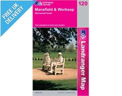 Landranger 120 Mansfield and Worksop Map Book