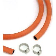 LPG Gas Hose (1m), and 2 Jubilee Clips