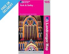 Landranger 105 York and Selby Map Book