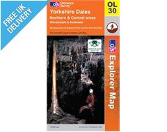 Explorer Active OL30 Yorkshire Dales North and Central Waterproof Map Book
