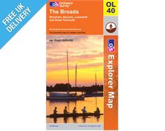 Explorer Active OL40 The Broads Waterproof Map Book