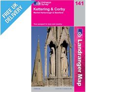 Landranger 141 Kettering and Corby Map Book