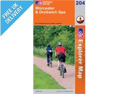 Explorer 204 Worcester and Droitwich Map Book