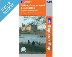 Explorer 349 Falkirk Cumbernauld Map Book