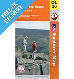 Explorer Active OL26 North York Moors West Waterproof Map Book