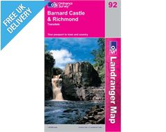 Landranger 92 Barnard Castle and Area Map Book