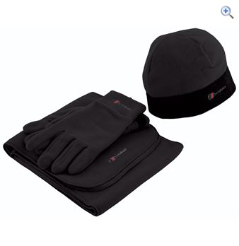Berghaus Spectrum Hat Glove and Scarf Set  Size LXL  Colour Black