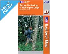 Explorer 224 Corby and Kettering Map Book