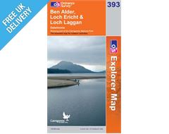 Explorer 393 Ben Alder Loch Erich Map Book