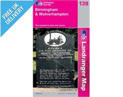 Landranger 139 Birmingham and Wolverhampton Map Book