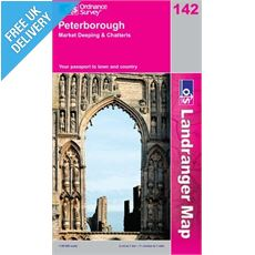 LandRanger 142 Peterborough and Market Harborough Map Book