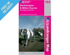 Landranger 152 Northampton and Milton Keynes Map Book