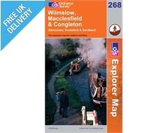 Explorer 268 Wilmslow Macclesfield Map Book