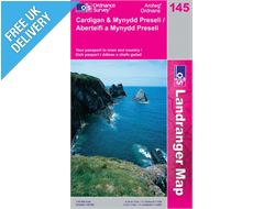 Landranger 145 Cardigan and Mynydd Preseli Map Book