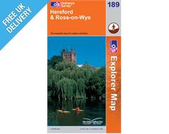 Explorer 189 Hereford Andross on Wye Map Book