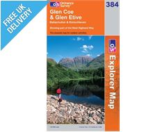 Explorer 384 Glen Coe and Glen Etive Map Book