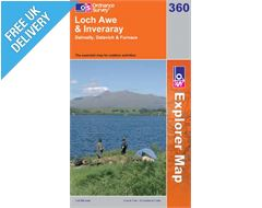 Explorer 360 Loch Awe and Inveraray Map Book
