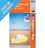 Explorer 197 Ipswich Felixstowe Map Book