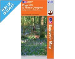 Explorer 206 Edge Hill and Fenny Hill Map Book