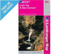 Landranger 51 Loch Tay and Glen Dochar Map Book