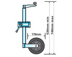 Jockey Wheel (Lightweight Telescopic)