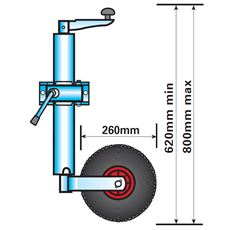 Jockey Wheel (Medium Duty, Telescopic)