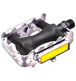 MTB Pedals- Plastic Alloy Cage - Silver