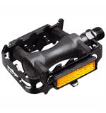 MTB Pedals- Plastic Alloy Cage - Black