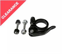 Seat Post Clamp/Collar Set 34.9mm Bolt and Quick Release