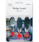 Silver Wedge, 3-pack