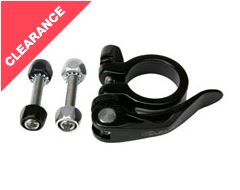 Seat Post Clamp/Collar Set 28.6mm Bolt and Quick Release