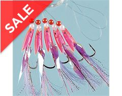 Hokki Pink Tail size 1/0, pack of 5