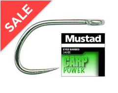 Carp Power Barbless Hooks, size 10, 10 pack