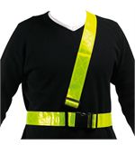 Men's Reflective Sam Browne Belt