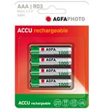 AAA Ni-MH 1000 Rechargeable Batteries (4 pack)