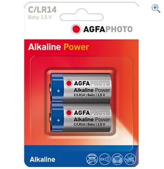 Image of AgfaPhoto C Digital Alkaline Battery (2 pack)